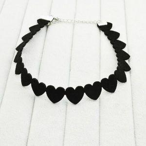 Jewelry - Black Heart ChokerBlack Heart Choker NWOT